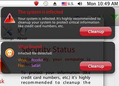 Mac Defender fake security popups