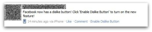 Dislike button on Facebook