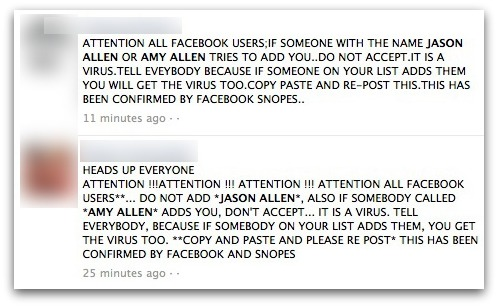 IF SOMEONE WITH THE NAME JASON ALLEN OR AMY ALLEN TRIES TO ADD YOU..DO NOT ACCEPT.IT IS A VIRUS.