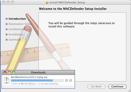 Fake AV for Mac installer/download