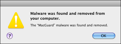 Mac malware removed