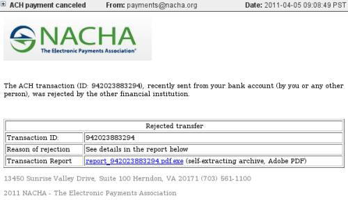 NACHA malicious spam