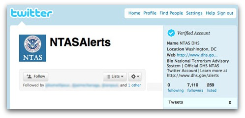 NTASAlerts on Twitter, but no tweets