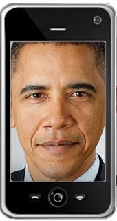 Barack Obama mobile phone