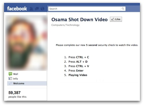 Osama shoot down video scam