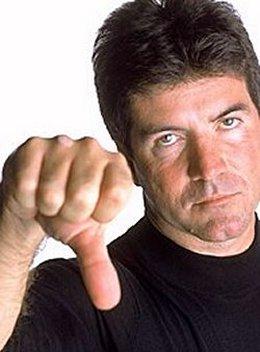 Simon Cowell photo thumbs down