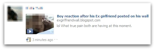 Boy reaction after his Ex girlfriend posted on his wall Facebook scam