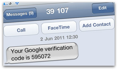 Mobile phone receives verification number