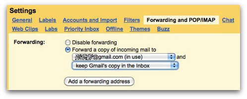 Gmail forwarding emails