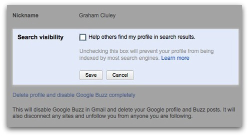 Google Profile search visibility