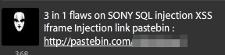 Idahc tweet announcing Sonymusic.pt hack