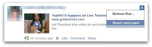 Remove post from newsfeed