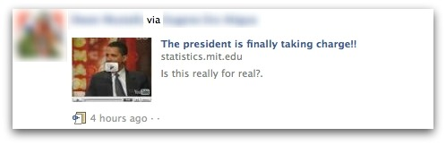 The president is finally taking charge on Facebook
