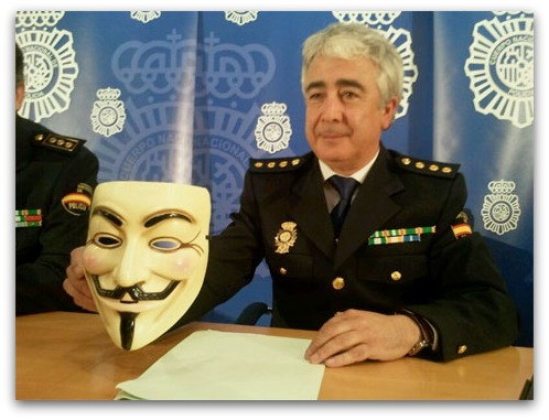 Spanish police press conference