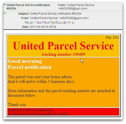 United Parcel Service notification