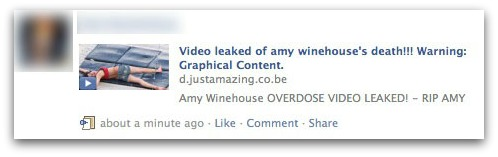 Video leaked of Amy Winehouse's death