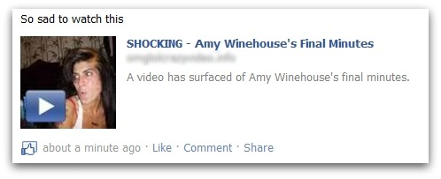 Amy Winehouse death video scam