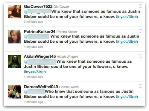 Who knew that someone as famous as Justin Bieber could be one of your followers, u know