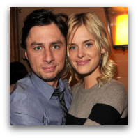 Zach Braff with girlfriend Taylor Bagley