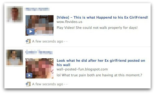 Ex girlfriend video scams on Facebook