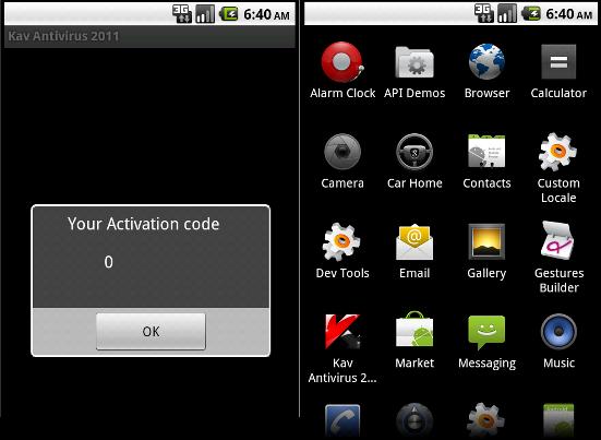Fake Kaspersky Antivirus 2011