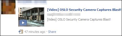 Facebook scam on Oslo bombing