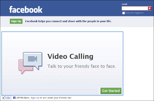 Facebook Video Calling scam app