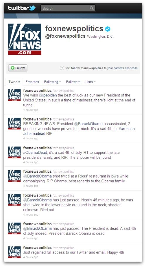 Fox News tweets