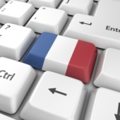 French flag and keyboard