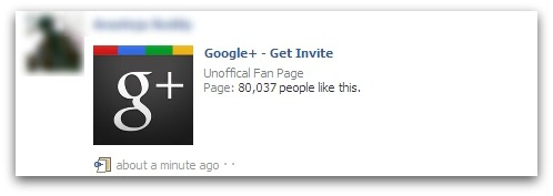 Google+ Invite scam