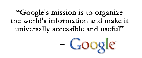 Google's mission statement