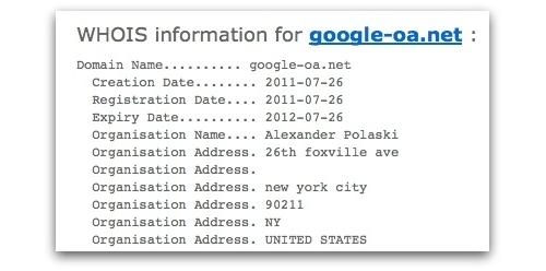 Whois information for google-oa.net