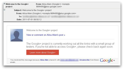 Spam Google Plus email sent by pharmacy spammers