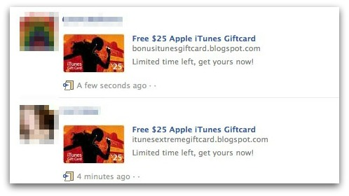 Apple iTunes Giftcard scam