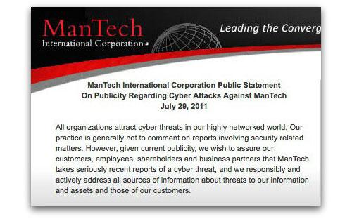 ManTech statement