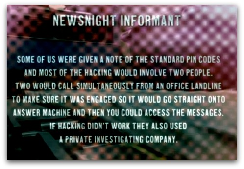 Newsnight alleges Sunday Mirror phone hacking