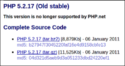 PHP 5.2.17 not supported