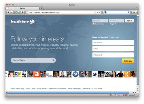 Twitter phishing page