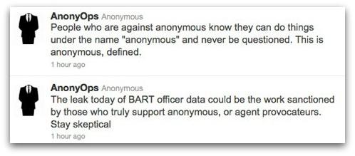 Anonymous tweets