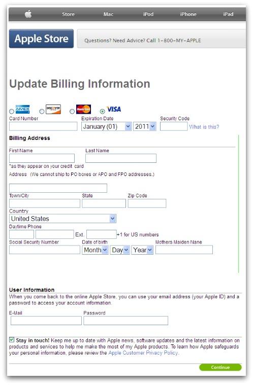Phishing website