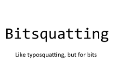 Bitsquatting title slide