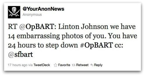 Tweet about embarrassing photos