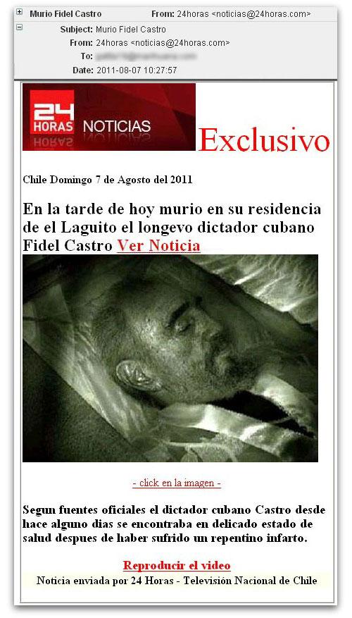 Fidel Castro malicious email