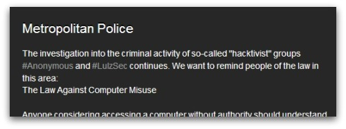 Warning from Met Police