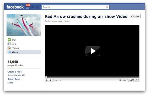 Red Arrows Facebook scam