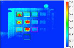 Thermal image of ATM PIN pad