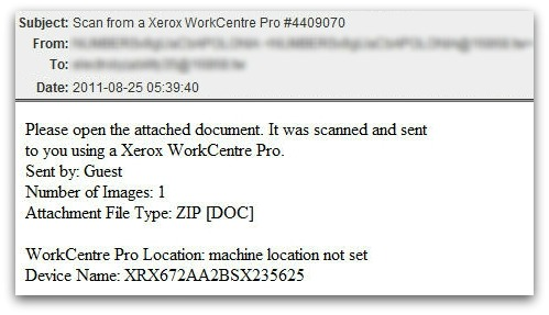 Scan from a Xerox WorkCentre Pro