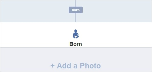 Add a picture from when you were born