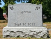 DigiNotar gravestone