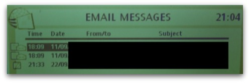 Email messages on Amstrad E-m@iler